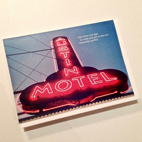 Austin Motel notecard