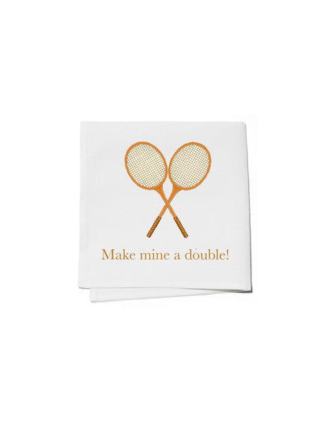 Cocktail Napkins Set of 4 - Make Mine a Double