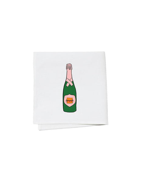 Champagne Bottle Cocktail Napkins (S/4)