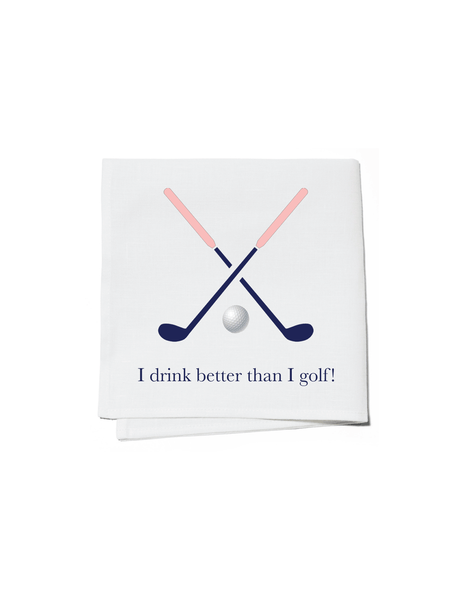 Cocktail Napkins Set of 4 - Drink Better Than Golf