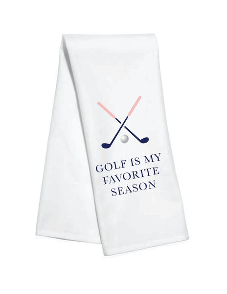 Golf Is My Favorite Season Kitchen Towel