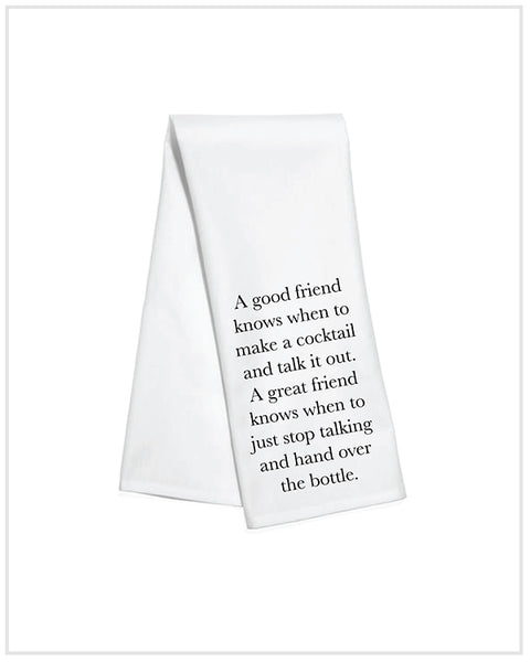 Good Friend Cocktail Kitchen Towel