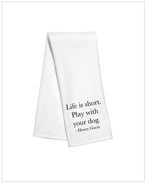 Play With Your Dog Kitchen Towel