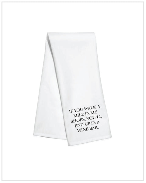 Walk A Mile Kitchen Towel