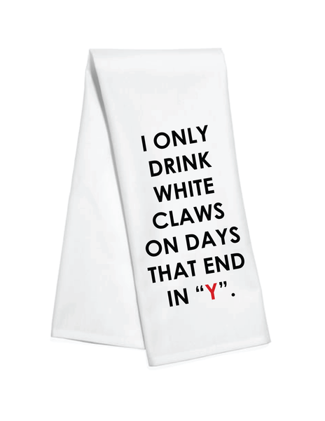 White Claws Kitchen Towel