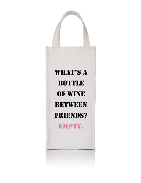 Empty Bottle Wine Bag