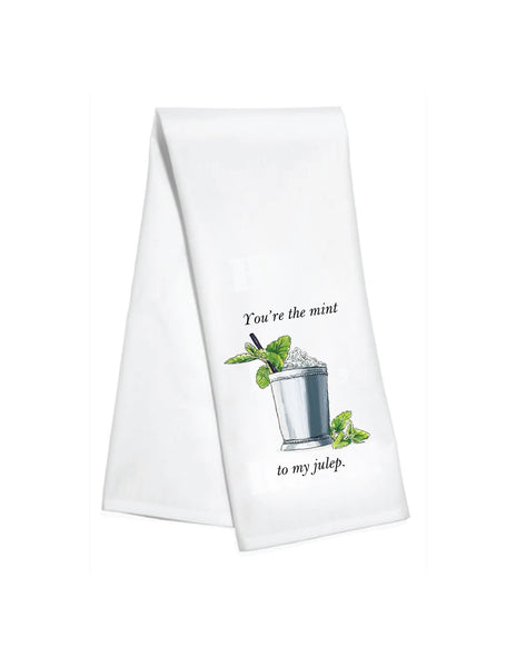 Mint To My Julep Kitchen Towel