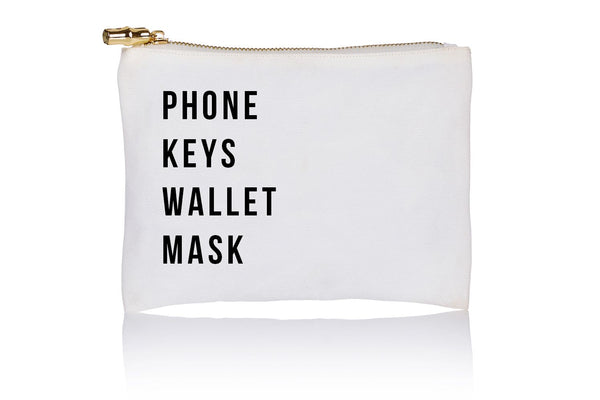 Phone, Key, Wallet, Mask Flat Zip