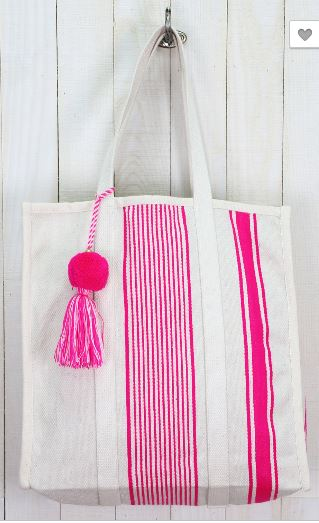 Stripe Shopper Tote