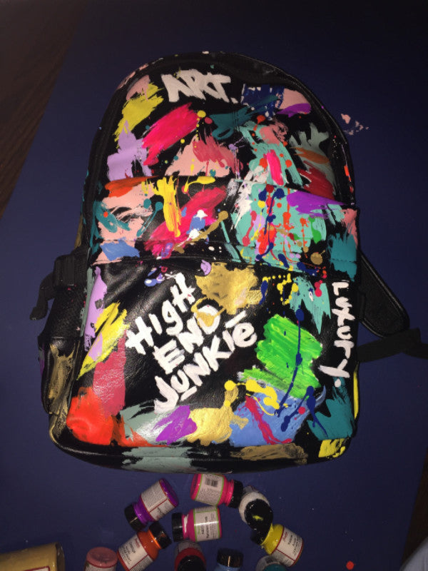 """MasterPiece"" Hand Painted Vegan Leather Backpacks"