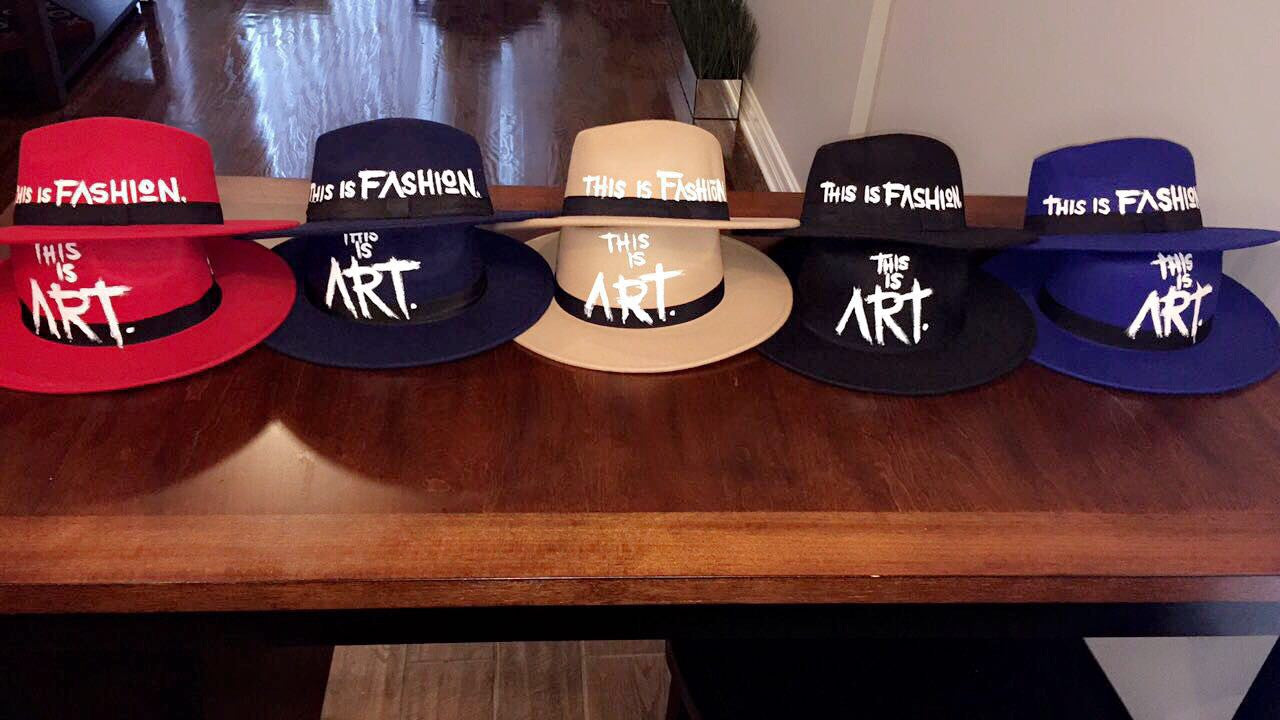The Socialite Handpainted Fedoras