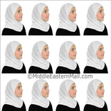 Wholesale 2 Dozen Khatib  Cotton Girl's 1 piece Hijabs Standard All white