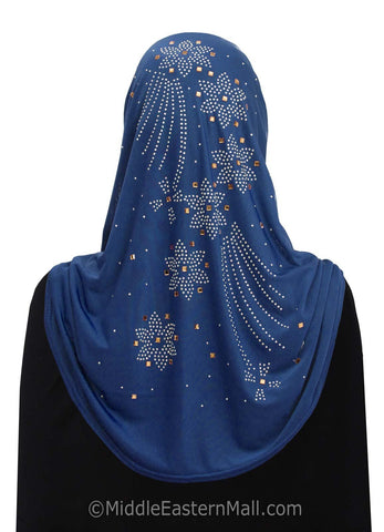 Wholesale Set of 20 Lycra Amira Hijab with Rhinestones