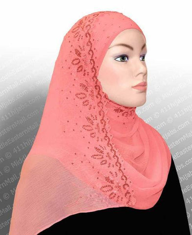 Wholesale 1 dozen Hijab- 2-in-1 Shawl with Sequins 3 Colors Set of 12 Hijabs