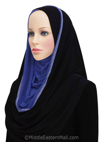 Wholesale 1 Dozen Jersey Hoodie Hijab 2-Tone Easy Instant Headscarf Get 4 Assorted Colors