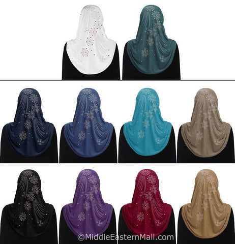 Wholesale Set of 20 Aiyah Design 1 piece Lycra Amira Hijabs