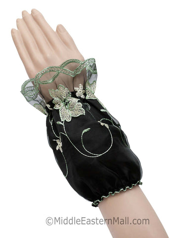 Wholesale set of 24 (Two Dozen) of Arm Cuffs with Floral Embroidery in 6 Colors