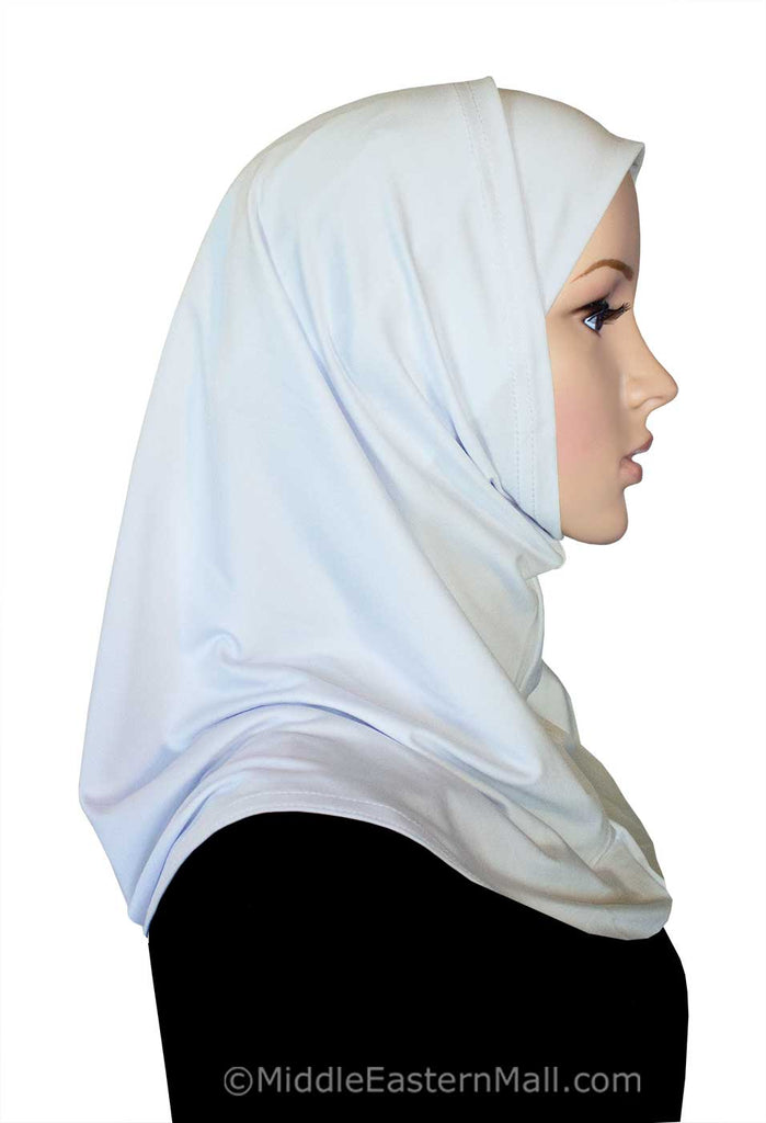 Wholesale 4 Dozen 2 piece Classic Lycra Amira Hijabs in Black & White 24 of each color