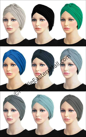 Wholesale 3 dozen Khatib Cotton Classic Turban in 18 colors 2 of each