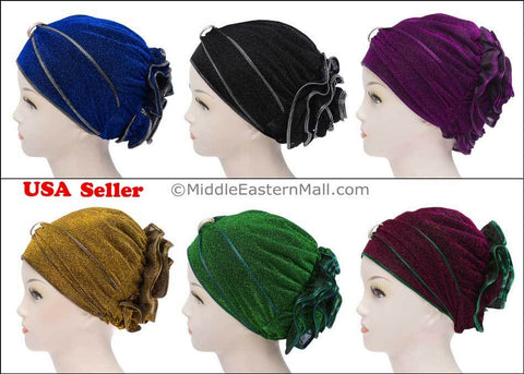 Wholesale two DOZEN Small Dazzle Hijab Caps - 5 Colors per Dozen