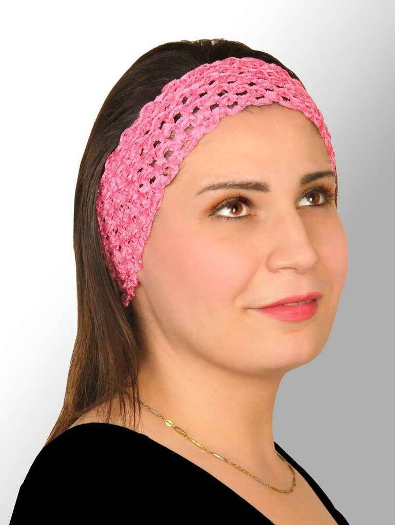 One Dozen of Elastic Crochet Headband 12 Colors 1