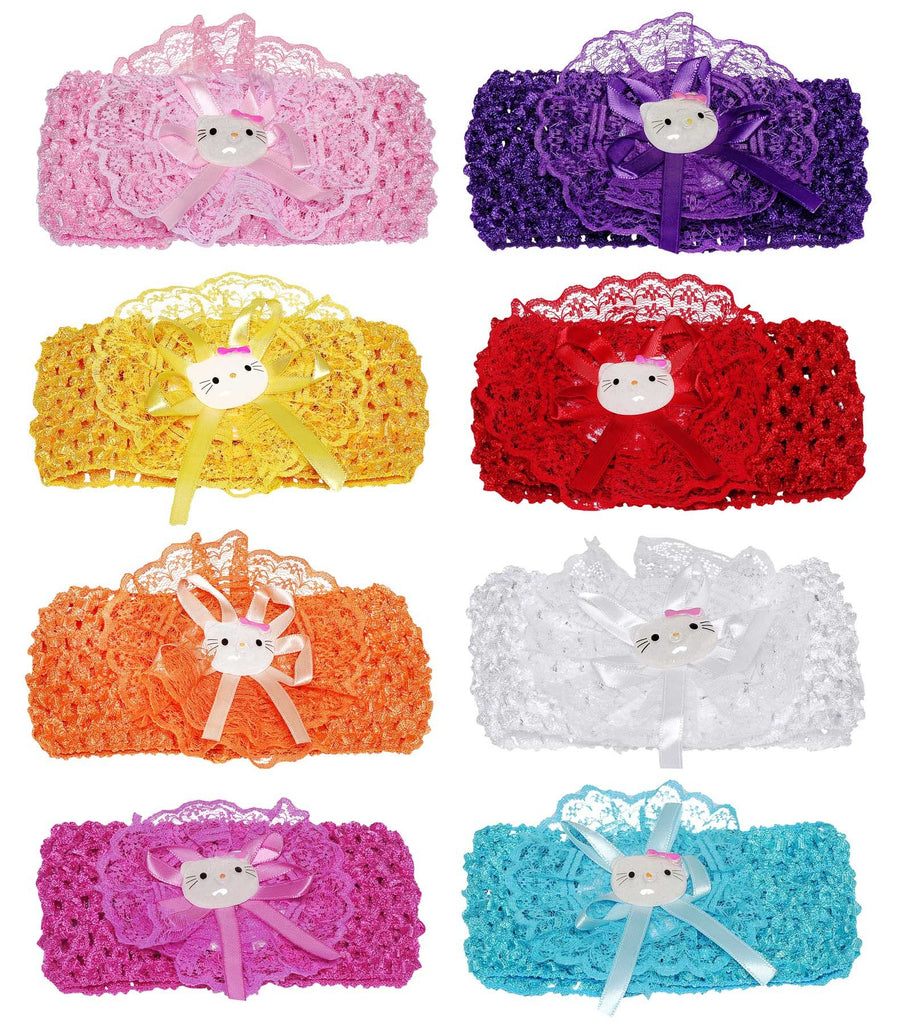 Wholesale Set of 12 Baby Crochet Headbands in 5 colors