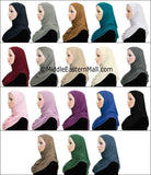 Wholesale 2 Dozen Khatib COTTON 1 Piece Amira Hijabs STANDARD LENGTH in 12 Colors 2 of each color