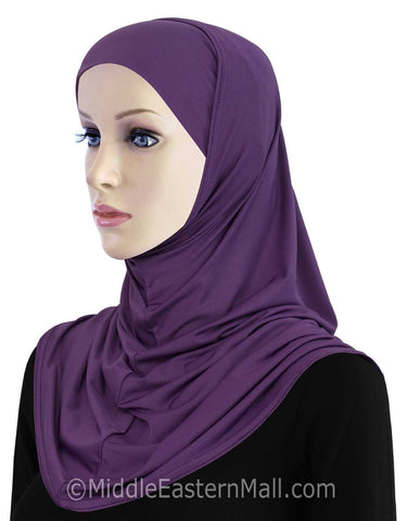 Wholesale Set of 16 Khatib Lycra 2 piece Hijab STANDARD LENGTH in 8 Colors 2 of each color