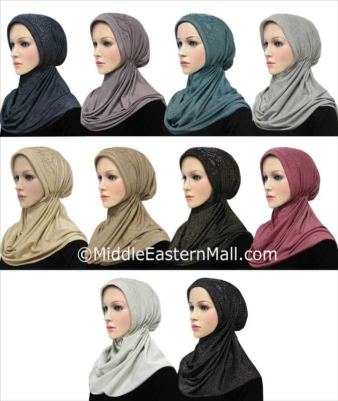 Wholesale Set of 20 Khatib Turban Hijabs in 10 Different Color 2 of each color