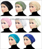 Wholesale Set of 16 Women's Large Luxor Khatib Lycra Snood Hijab Cap