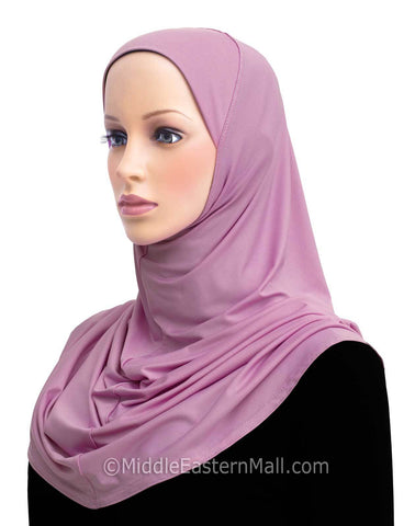 PREPAID DOZEN Khatib Lycra Long 1 Piece Amira Hijabs in 12 Colors with FREE SHIPPING