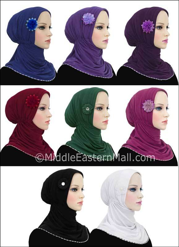 Wholesale set of 12 Rabia Turban Hijabs 4 different colors 3 of each color