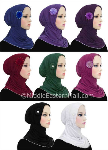Wholesale set of 16 Rabia Turban Hijabs 8 different colors 2 of each color