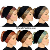 Wholesale One dozen of  Venetian Turban Hijab Caps two of  each color