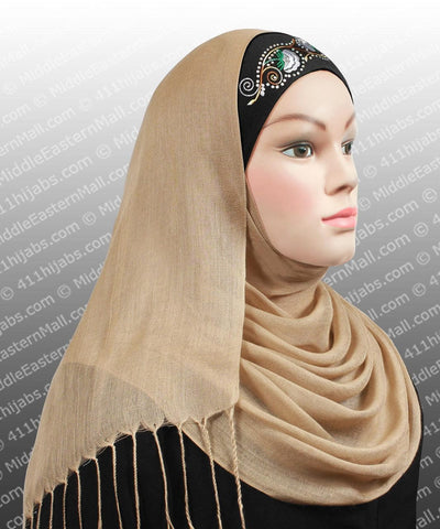 One dozen Hijab Cap Cotton w/Embroidery 12 Colors 1