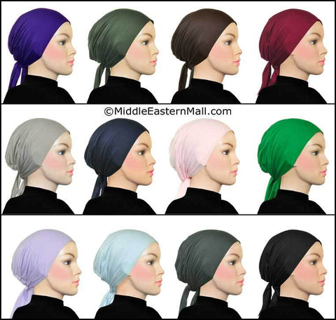 Wholesale 3 DOZEN SUPREME UNDERSCARF BONNETS no black no white