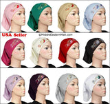 Wholesale 2 dozen Hijab Cap Cotton w/Embroidery 12 Colors