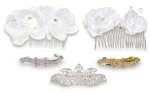 Wholesale set of 18 Hair Accessories  Combo Bridal Set