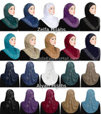 Wholesale Combo Set of 20 includes 10 Aiyah & 10 Zelfa Design 1 piece Lycra Amira Hijabs