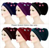 Wholesale One dozen Velvet Venetian Turban Hijab Caps two of each color