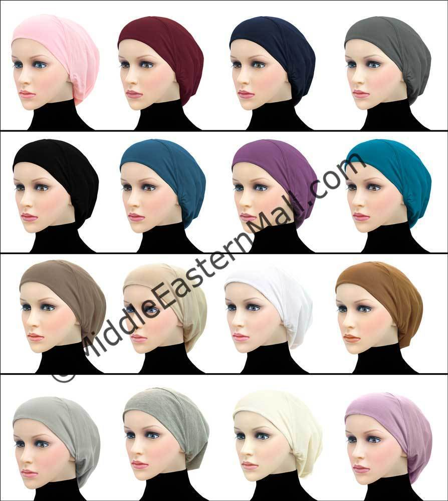 Wholesale 3 dozen Women's Large Khatib Cotton Snood Underscarf Hijab Cap