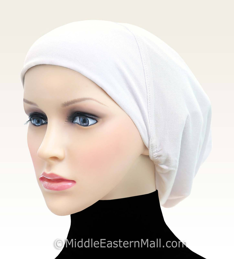 Wholesale 2 Dozen Women's Large Khatib Cotton Snood Hijab Caps in Black & White