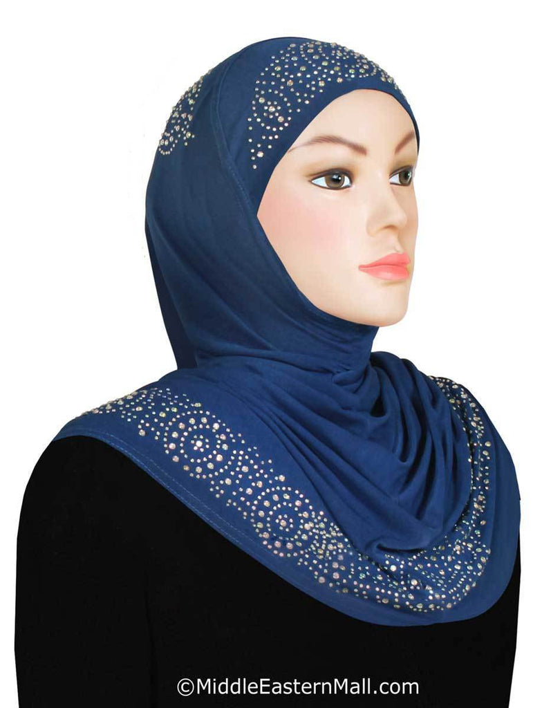 Wholesale Set of 20 Zelfa Hijab Lycra 1 piece Amiras includes 2 of each colors