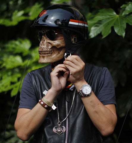 Skull Mask Motorcycle Half Face