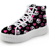 Skull Print Women Shoes 6 Colours (50% OFF)