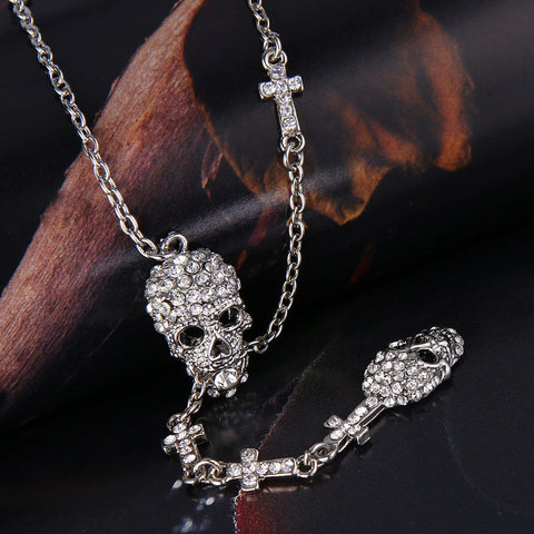 High Quality Skull Cross Necklace