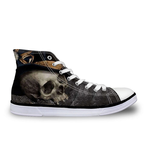 Unisex Skull Canvas Sports Shoes