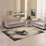 Skull On Ruins Place Polyester Floor Rug Carpets