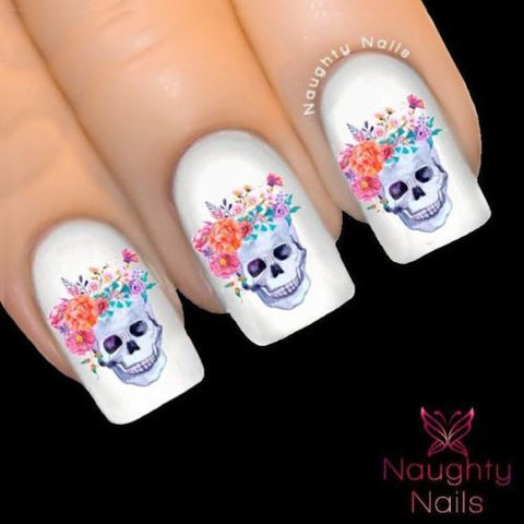 ODETTE Sugar Skull Nail Water Transfer Decal Sticker