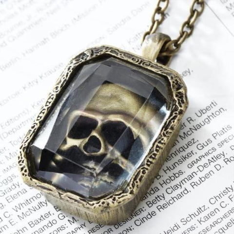 Skull Case Pendant Necklace Chain